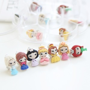 JIREH BOW - BRAND - Korean Children Fashion - #Kfashion4kids - 7 Princess Earrings [set of 7]