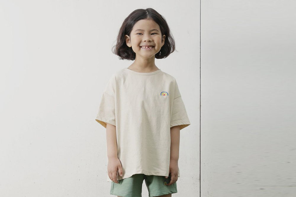 MUIMUI - BRAND - Korean Children Fashion - #Kfashion4kids - Rainbow Tee