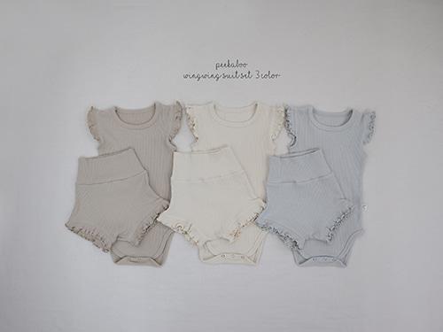 PEEKABOO - BRAND - Korean Children Fashion - #Kfashion4kids - Wingwing Bodysuit with Shorts