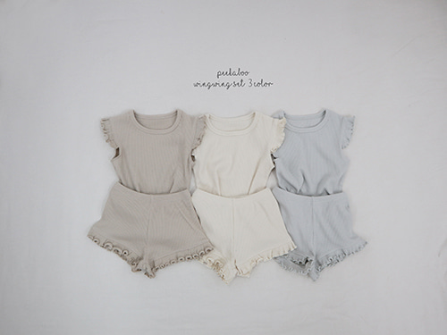 PEEKABOO - BRAND - Korean Children Fashion - #Kfashion4kids - Wingwing Top Bottom Set