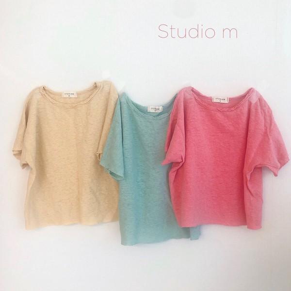 STUDIO M - BRAND - Korean Children Fashion - #Kfashion4kids - Linen Tee