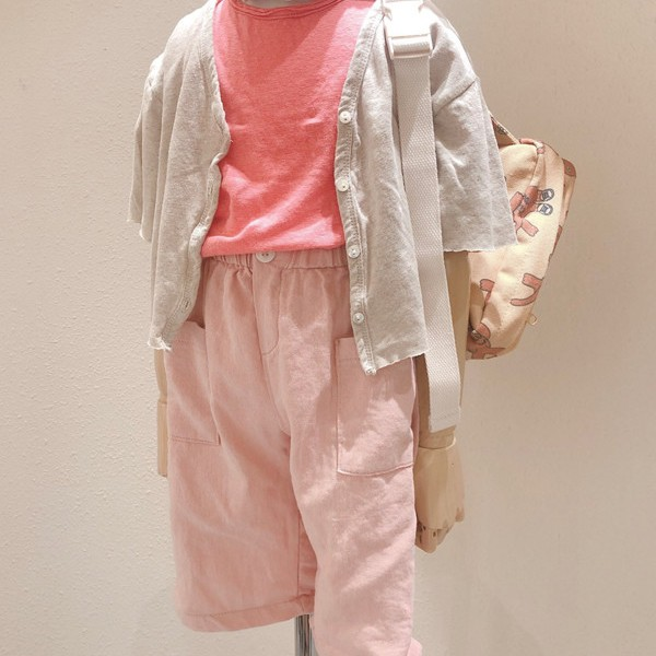STUDIO M - BRAND - Korean Children Fashion - #Kfashion4kids - Pocket Linen Pants