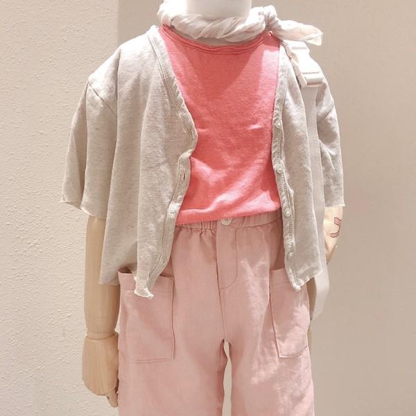 STUDIO M - BRAND - Korean Children Fashion - #Kfashion4kids - Linen Cardigan