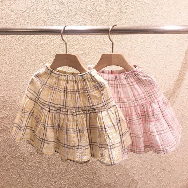 STUDIO M - BRAND - Korean Children Fashion - #Kfashion4kids - Frill Check Skirt