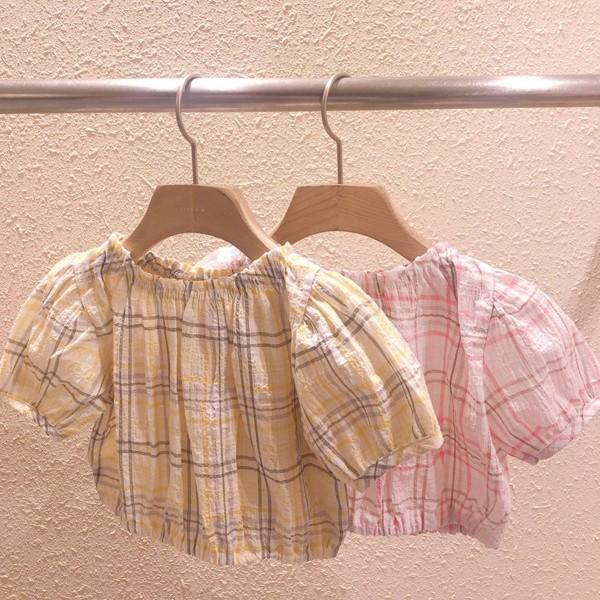 STUDIO M - BRAND - Korean Children Fashion - #Kfashion4kids - Mini Check Top