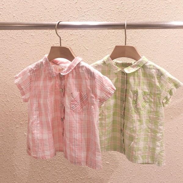 STUDIO M - BRAND - Korean Children Fashion - #Kfashion4kids - Sweet Check Shirt
