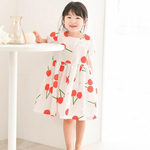 WANDOOKONG - BRAND - Korean Children Fashion - #Kfashion4kids - Cherry Square One-piece