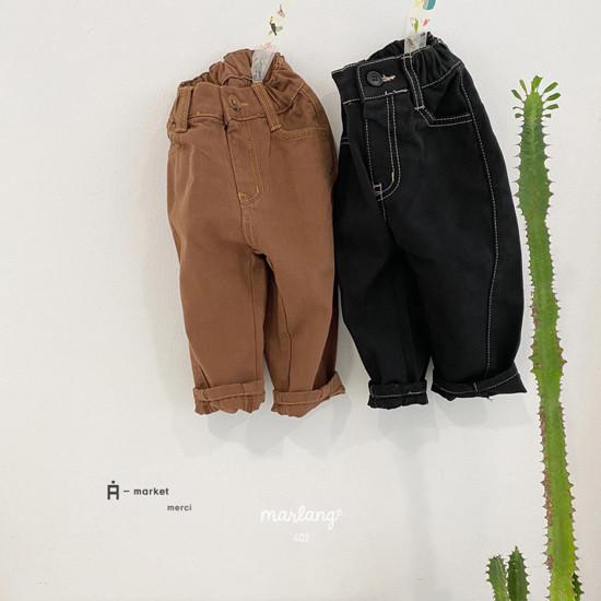 A-MARKET - Korean Children Fashion - #Kfashion4kids - Stitch Cotton Pants