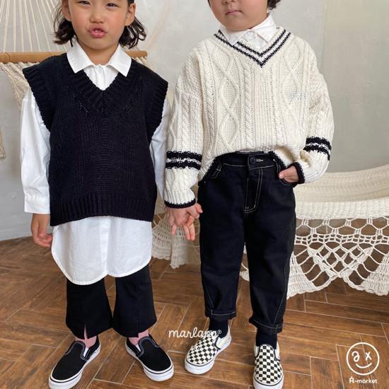 A-MARKET - Korean Children Fashion - #Kfashion4kids - Stitch Cotton Pants - 12