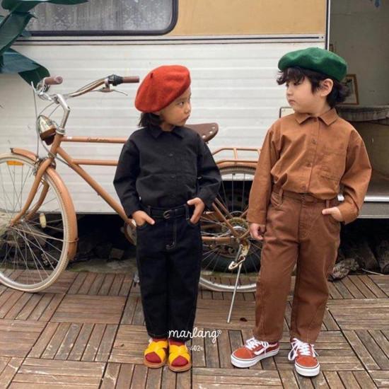 A-MARKET - Korean Children Fashion - #Kfashion4kids - Stitch Cotton Pants - 4