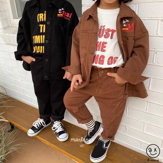 A-MARKET - Korean Children Fashion - #Kfashion4kids - Stitch Cotton Pants - 6