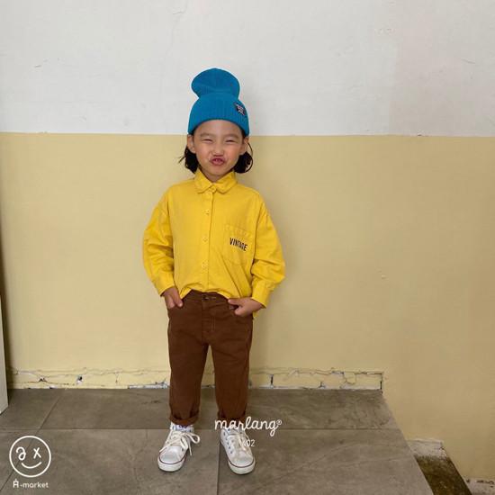 A-MARKET - Korean Children Fashion - #Kfashion4kids - Stitch Cotton Pants - 7
