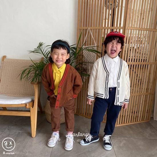 A-MARKET - Korean Children Fashion - #Kfashion4kids - Stitch Cotton Pants - 9