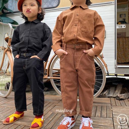 A-MARKET - BRAND - Korean Children Fashion - #Kfashion4kids - Stitch Cotton Pants