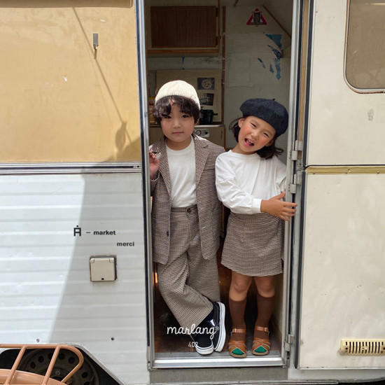 A-MARKET - Korean Children Fashion - #Kfashion4kids - Check Remer Jacket - 10