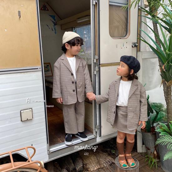 A-MARKET - Korean Children Fashion - #Kfashion4kids - Check Remer Jacket - 3