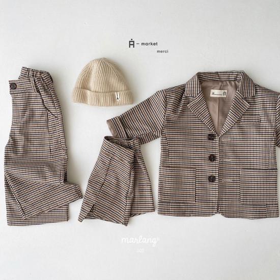 A-MARKET - Korean Children Fashion - #Kfashion4kids - Check Remer Jacket - 4