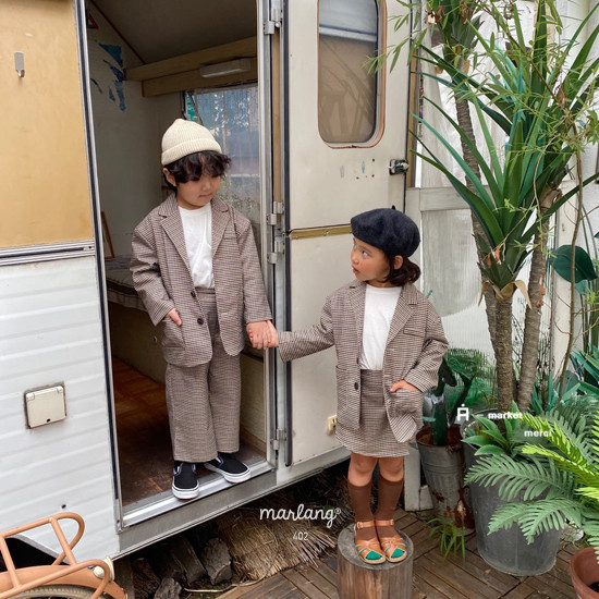 A-MARKET - Korean Children Fashion - #Kfashion4kids - Check Remer Jacket - 5