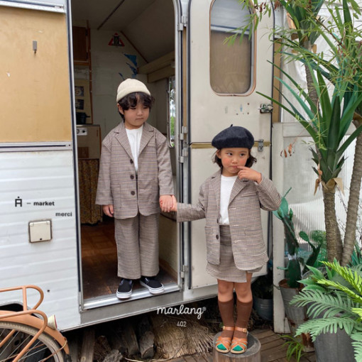 A-MARKET - BRAND - Korean Children Fashion - #Kfashion4kids - Check Remer Jacket