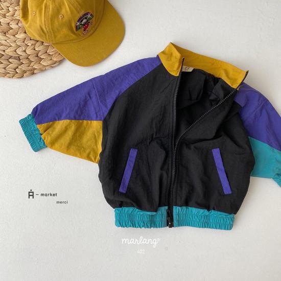 A-MARKET - Korean Children Fashion - #Kfashion4kids - Colored Windbreaker - 12