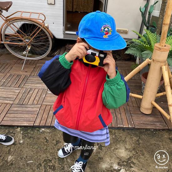 A-MARKET - Korean Children Fashion - #Kfashion4kids - Colored Windbreaker - 3