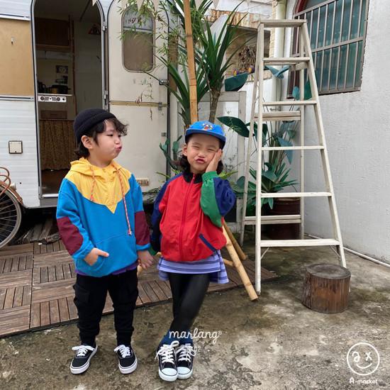 A-MARKET - Korean Children Fashion - #Kfashion4kids - Colored Windbreaker - 7
