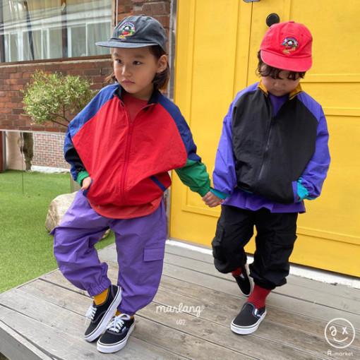 A-MARKET - BRAND - Korean Children Fashion - #Kfashion4kids - Colored Windbreaker