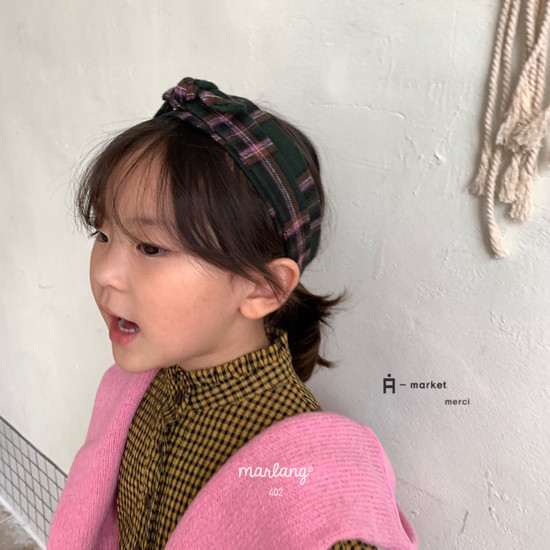 A-MARKET - Korean Children Fashion - #Kfashion4kids - Check Hairband - 2