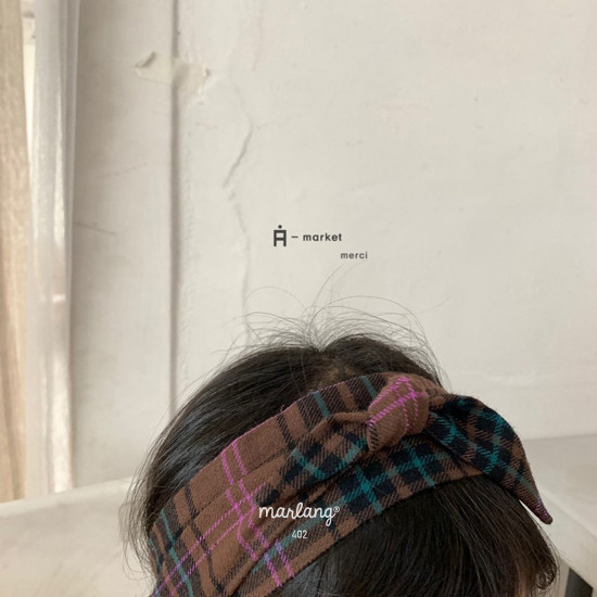 A-MARKET - Korean Children Fashion - #Kfashion4kids - Check Hairband - 4