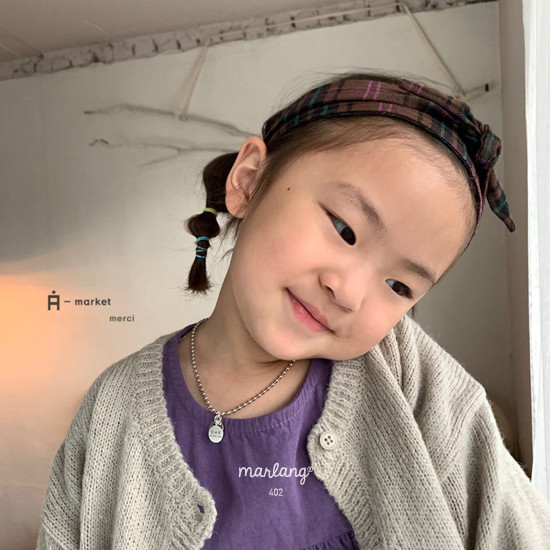 A-MARKET - Korean Children Fashion - #Kfashion4kids - Check Hairband - 5