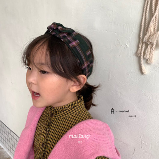 A-MARKET - BRAND - Korean Children Fashion - #Kfashion4kids - Check Hairband