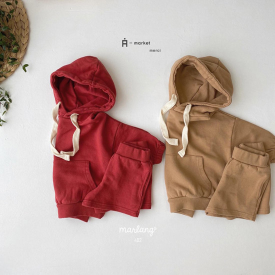 A-MARKET - Korean Children Fashion - #Kfashion4kids - Hood Top Bottom Set