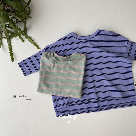 A-MARKET - Korean Children Fashion - #Kfashion4kids - Three Lines Boxy Tee