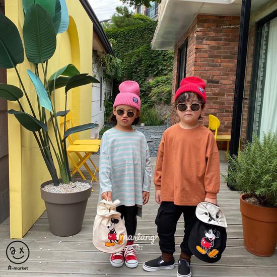 A-MARKET - Korean Children Fashion - #Kfashion4kids - Three Lines Boxy Tee - 12
