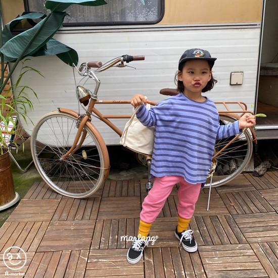 A-MARKET - Korean Children Fashion - #Kfashion4kids - Three Lines Boxy Tee - 2