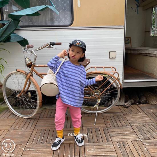 A-MARKET - Korean Children Fashion - #Kfashion4kids - Three Lines Boxy Tee - 3