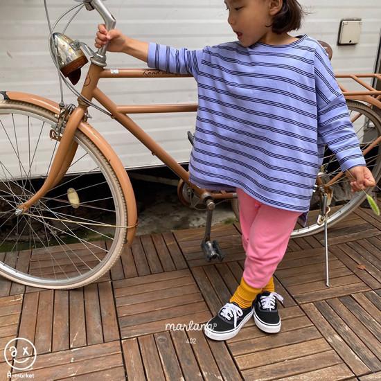 A-MARKET - Korean Children Fashion - #Kfashion4kids - Three Lines Boxy Tee - 4
