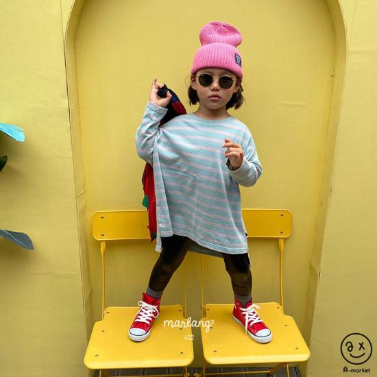 A-MARKET - Korean Children Fashion - #Kfashion4kids - Three Lines Boxy Tee - 6