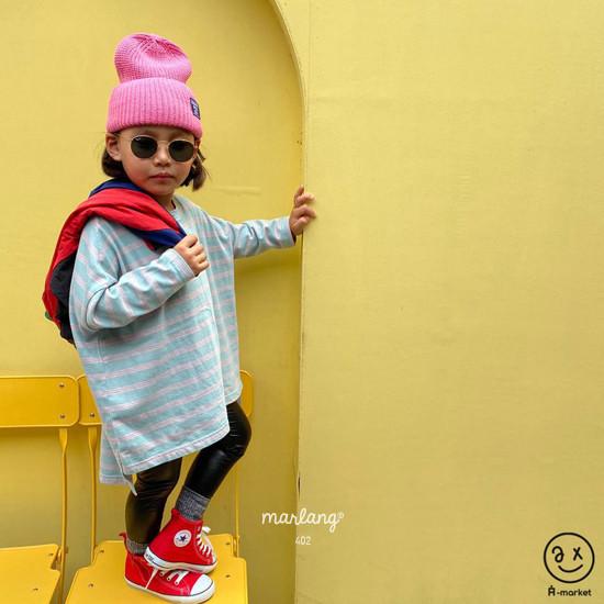 A-MARKET - Korean Children Fashion - #Kfashion4kids - Three Lines Boxy Tee - 7
