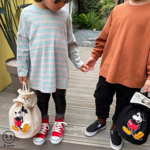 A-MARKET - BRAND - Korean Children Fashion - #Kfashion4kids - Three Lines Boxy Tee