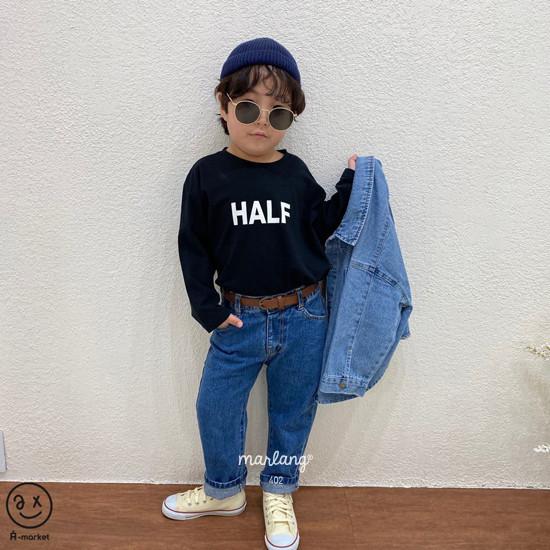 A-MARKET - Korean Children Fashion - #Kfashion4kids - Half Tee - 3