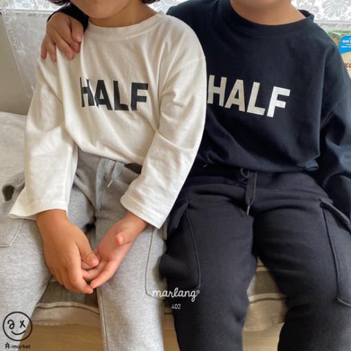 A-MARKET - BRAND - Korean Children Fashion - #Kfashion4kids - Half Tee