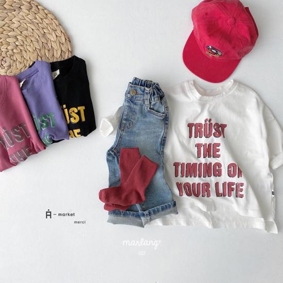 A-MARKET - Korean Children Fashion - #Kfashion4kids - Trust Long Tee