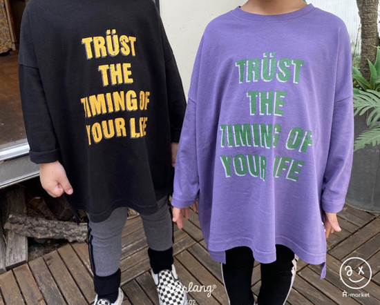 A-MARKET - Korean Children Fashion - #Kfashion4kids - Trust Long Tee - 5