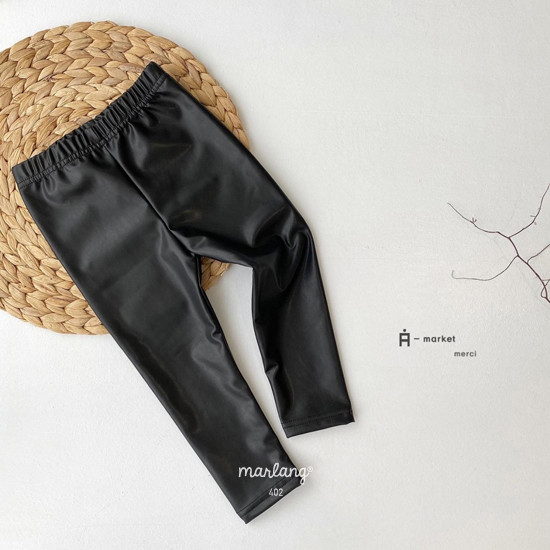 A-MARKET - Korean Children Fashion - #Kfashion4kids - Leather Leggings