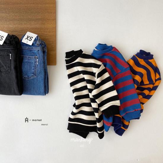 A-MARKET - Korean Children Fashion - #Kfashion4kids - Color Stripe MTM