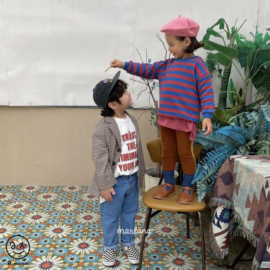A-MARKET - Korean Children Fashion - #Kfashion4kids - Color Stripe MTM - 2