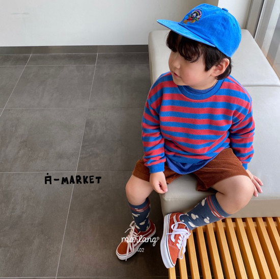 A-MARKET - Korean Children Fashion - #Kfashion4kids - Color Stripe MTM - 4