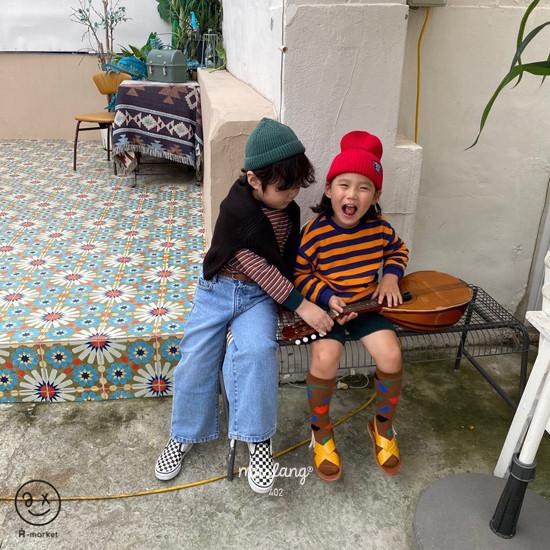 A-MARKET - Korean Children Fashion - #Kfashion4kids - Color Stripe MTM - 5