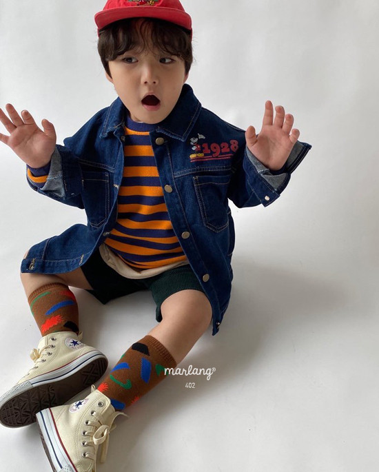 A-MARKET - Korean Children Fashion - #Kfashion4kids - Color Stripe MTM - 6
